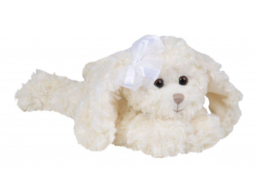 pejsek TIFFANY s mašlí bílý
