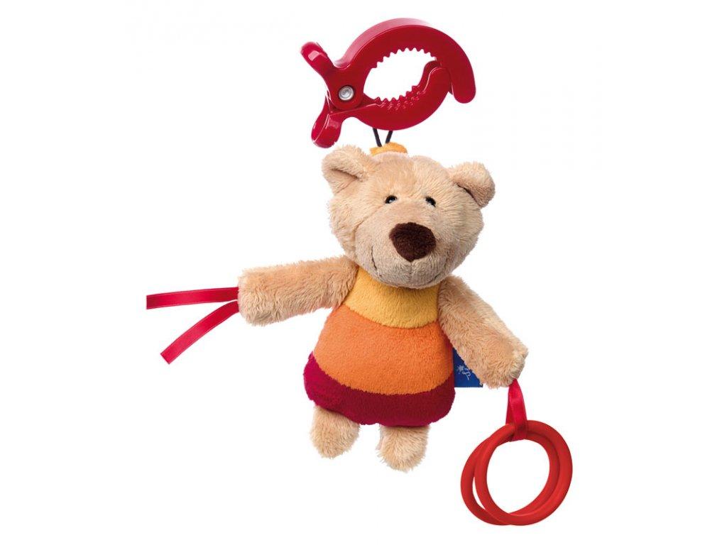 Medvídek BLUE LINE BABY hračka na zavěšení na autosedačku