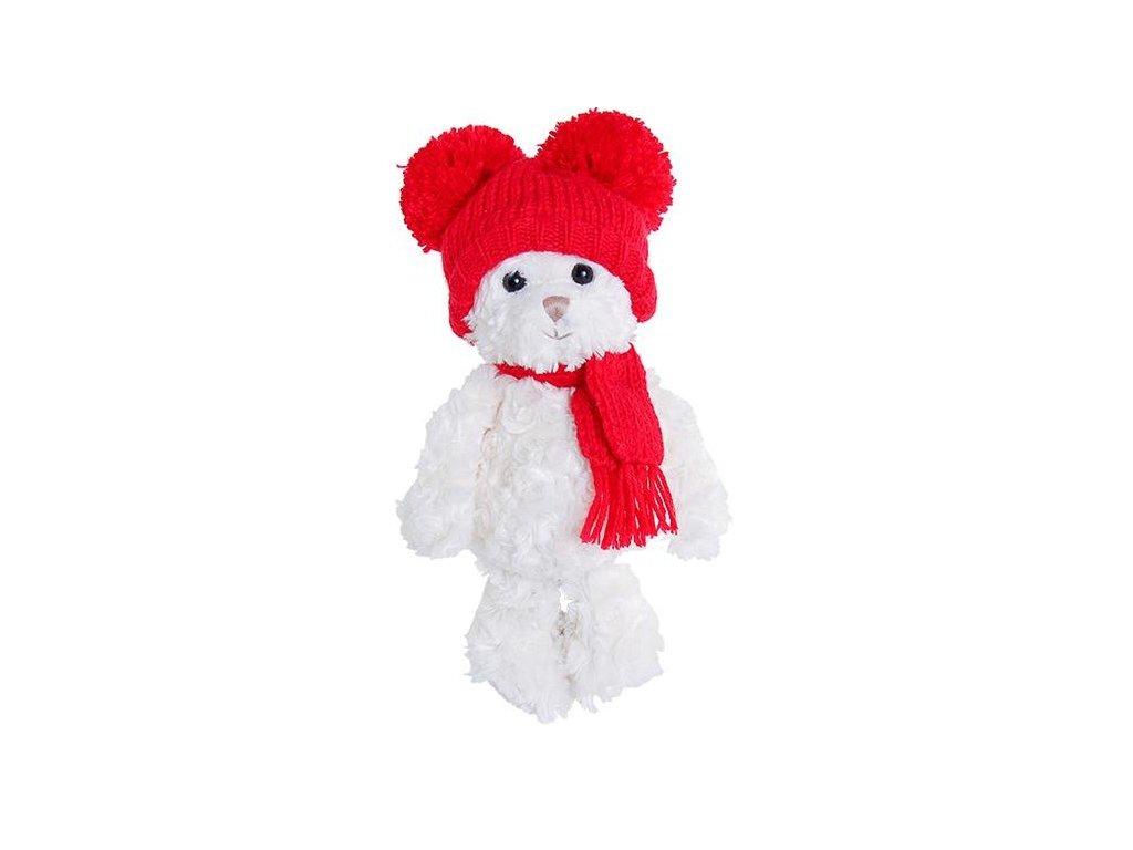 medvídek SWEET JULIAN - červená čepice