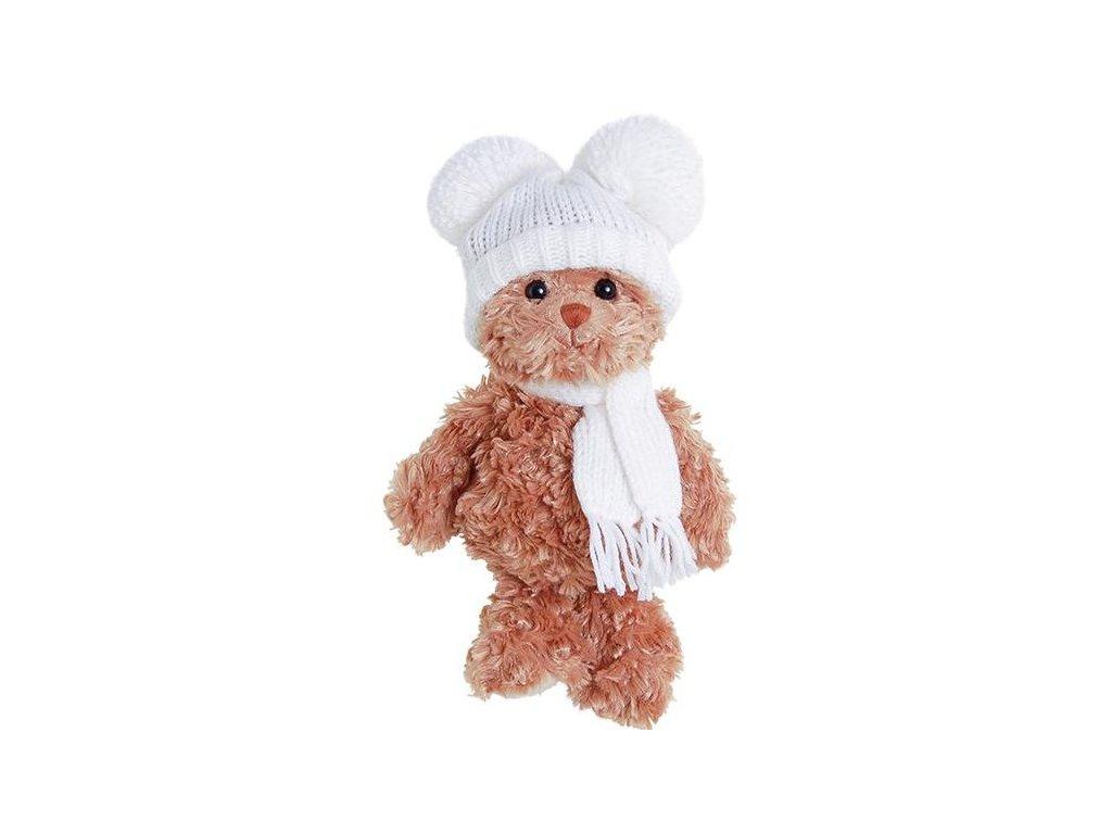 medvídek  SWEET JULIAN - bílá čepice