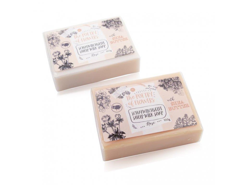 Mýdlo s ovčím mlékem POETRY OF FLOWERS