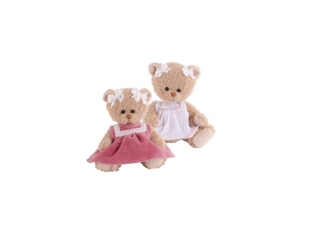BK NELLY medvídek růžové šaty (15cm) Bukowski Design