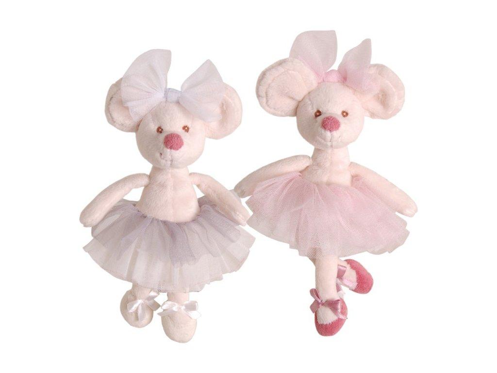 myška Antonia, růžová sukně (25cm)