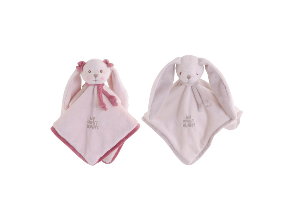 BK MY FIRST BUNNY BABY RUG muchláček růžový (30cm) Bukowski Design