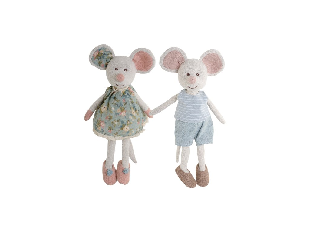 BK HERCULES myška v kraťasech a proužkovaném tílku (28cm) Bukowski Design NOVINKA