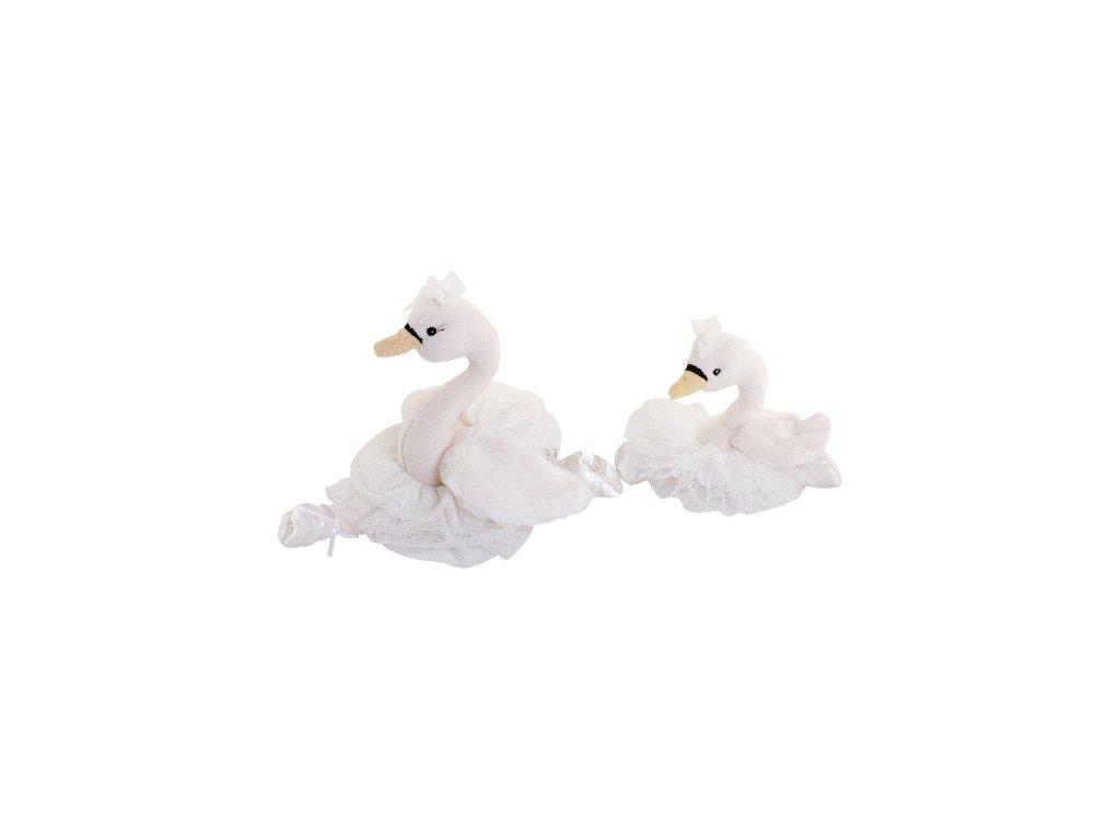 BK LITTLE ODETTE labuť v sukni (15cm) bílá sukně, Bukowski Design NOVINKA