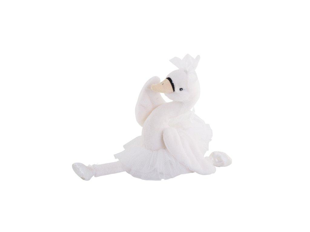 BK ODETTE  labuť v sukni (50cm) bílá sukně, Bukowski Design NOVINKA