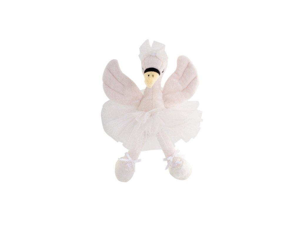 BK WHITE ODETTE labuť v sukni (25cm) bílá sukně, Bukowski Design NOVINKA