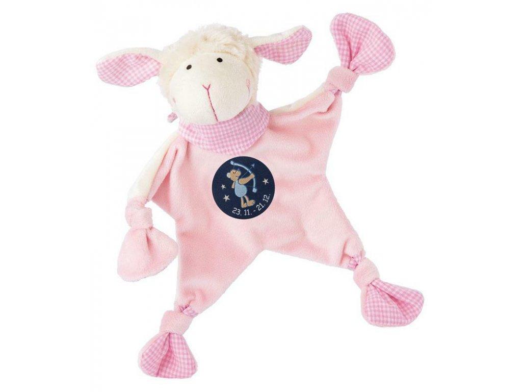 Muchláček znamení - STŘELEC - růžová ovečka
