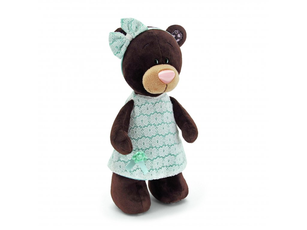 Medvídek MILK v modrých šatech (30cm)