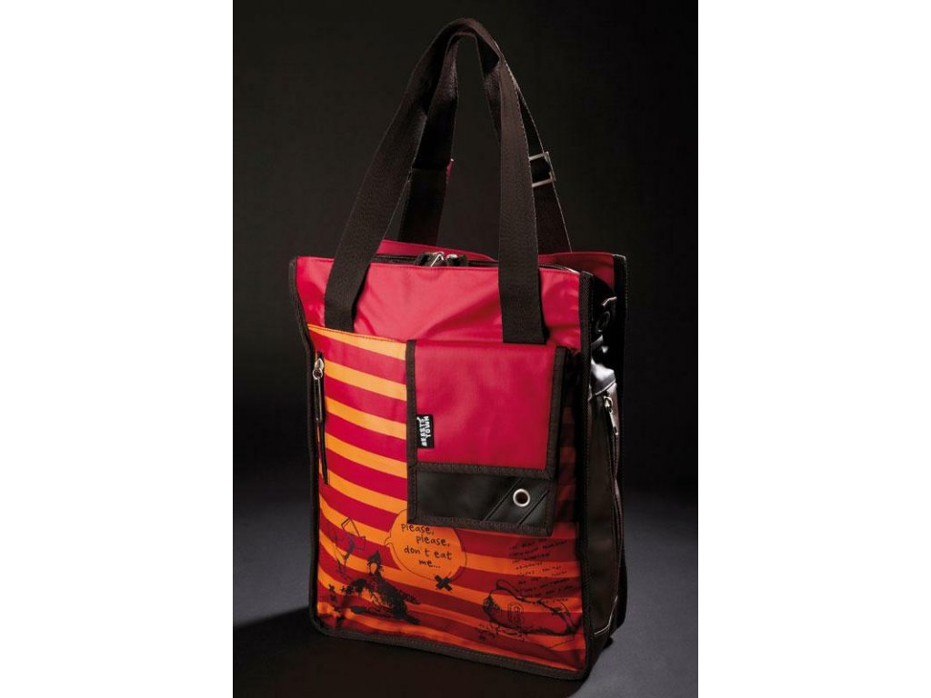 86d9acd4e6302 Taška/batoh na notebook červený/oranžový BEASTS - HAPPY BEARS.cz