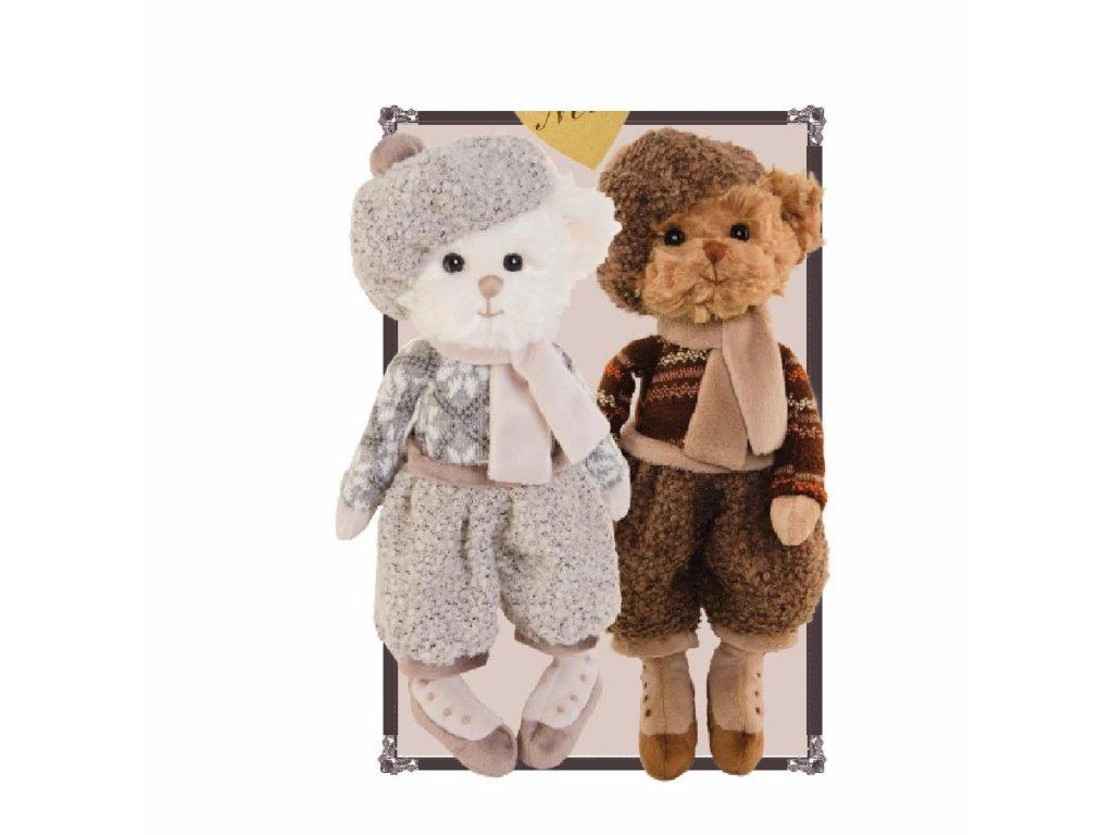 medvídek KARL oblečený - retro