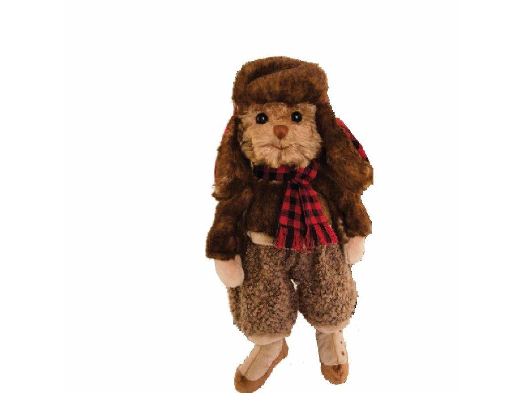 medvídek STAFFAN oblečený - retro