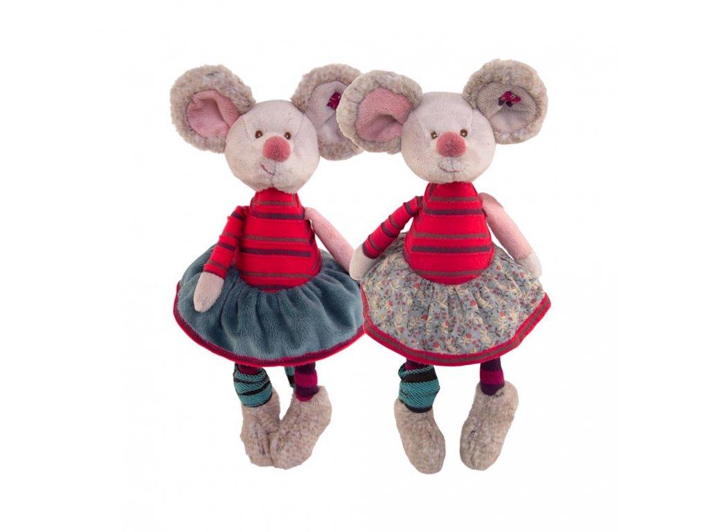 myš  CRAZY MOUSY (šedivá sukně)