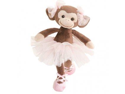 BK BABY MISSY hnědá opička (15cm) baletka, růžová sukně Bukowski Design NOVINKA