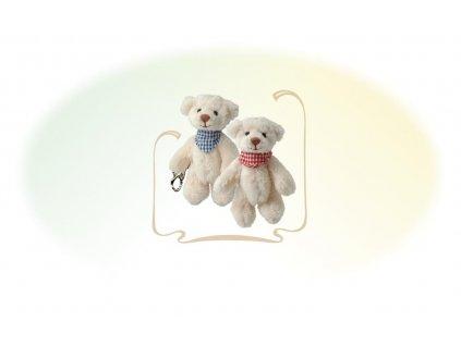 BK BENEDICT KR klíčenka (10cm) medvídek s šátkem (červený/modrý)