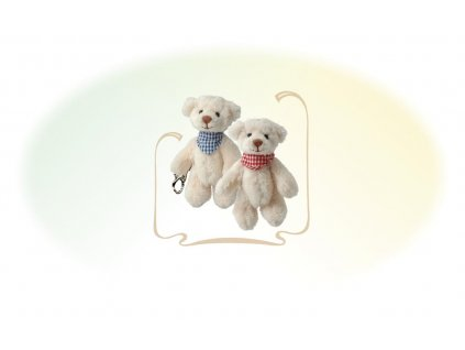 Medvídek s šátkem Benedict klíčenka (10cm)