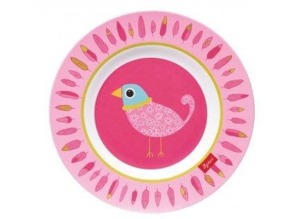 MELAMIN lifestyle ptáček FINKY PINKY talíř